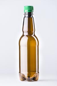 PET lahev pivní 0,5 litru, hnědá