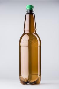 PET lahev pivní 1,5 litru, hnědá