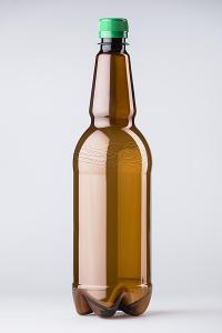 PET lahev pivní 1 litr, hnědá