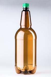 PET lahev pivní 2 litry, hnědá