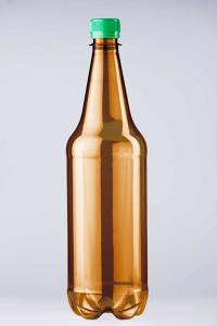 PET lahev pivní 1 litr, hnědá, RETRO