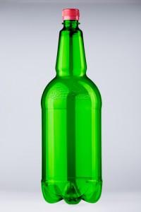 PET lahev vinná 2 litry, zelená